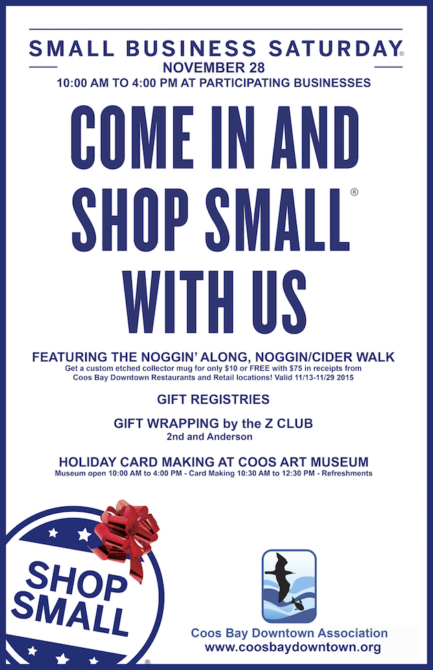 Shop Small Saturday in Coos Bay | Coos Bay Downtown ociation on map games, map jewelry, map books, map services,