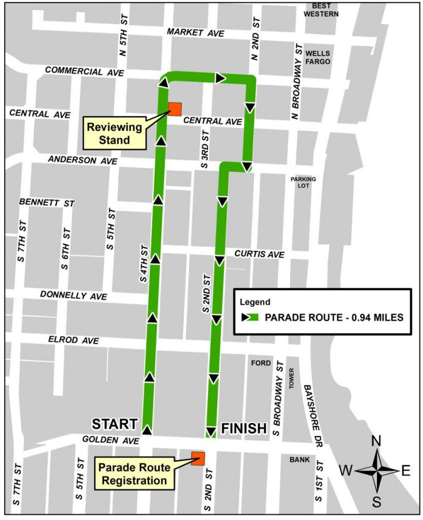 BAFF Parade Route